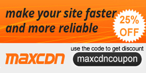 MaxCDN discount coupon