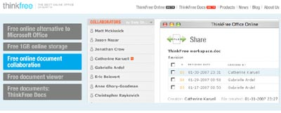 ThinkFree Is Absolutely Free Web Service And The Best Online Office On The Earth 1