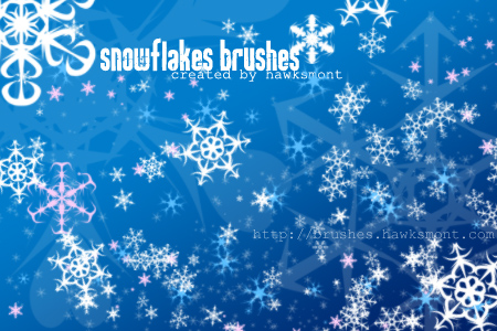 Free Photoshop Brushes: Snowflakes