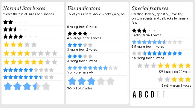 Starbox Allows You To Easily Create All Kinds Of Rating Boxes Using Just One PNG Image 34