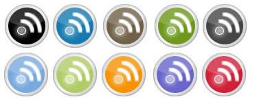 rss display icons circle