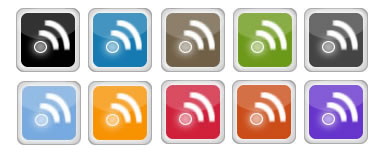 rss display icons square
