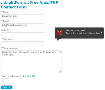 Free Ajax/PHP Contact Form