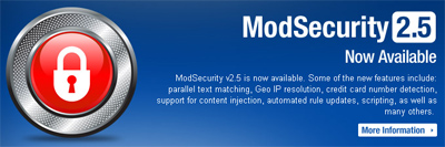 ModSecurity, An Open Source Web Application Firewall 1