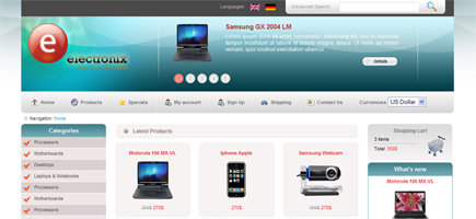 Download Free XHTML-CSS e-commerce Website Template 1