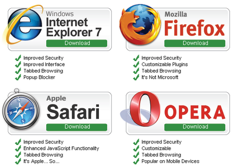 save developers browsers list
