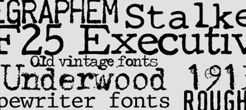 10 Awesome typewriter fonts for web designers