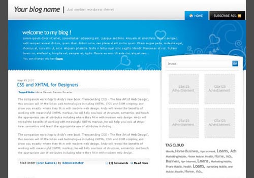 BlueGrey wordpress theme