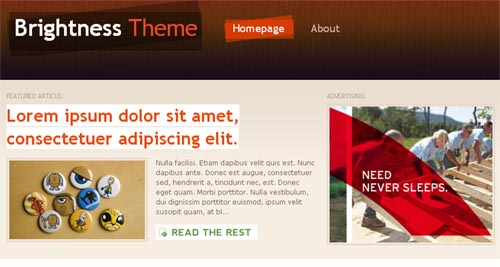 Brightness WordPress Theme