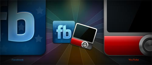 Facebook and youtube icons