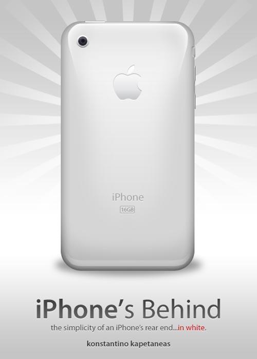 iPhone behind