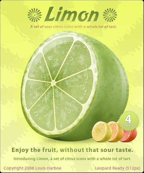 Limon-citrus-icons