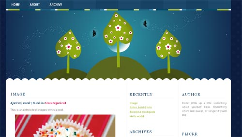 Night Whimsy WordPress Theme