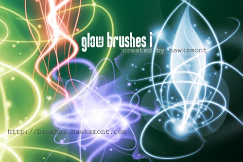 200+ Photoshop Brushes for Light, Sparkles