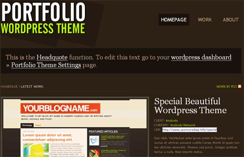 Porftolio WordPress Theme