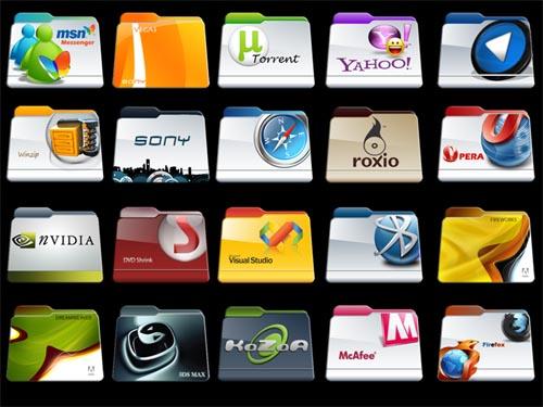 Program Files Folders Icon Pack