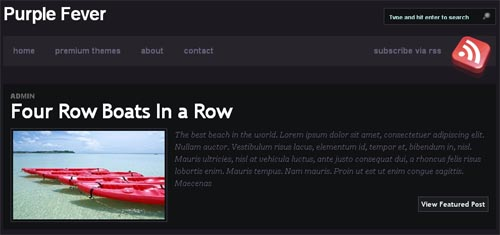 Purple Fever WordPress Theme