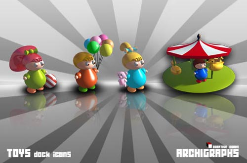 Toys Dock Icons