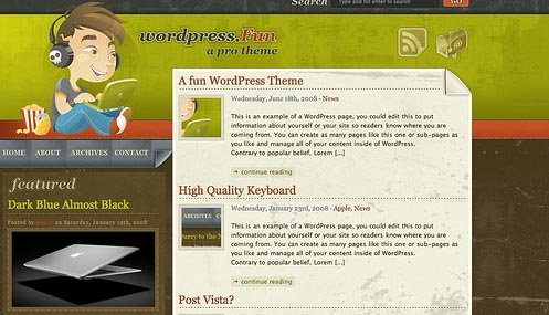 Wordpress fun theme