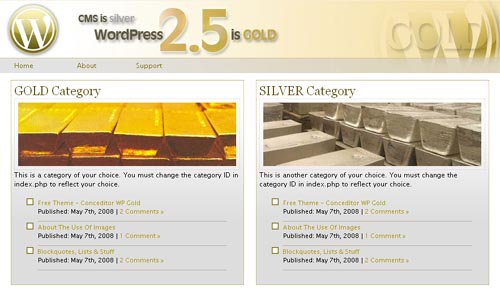 WP Gold Theme