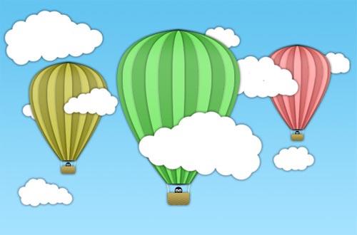 Creating a Cartoon Hot Air Balloon Scene