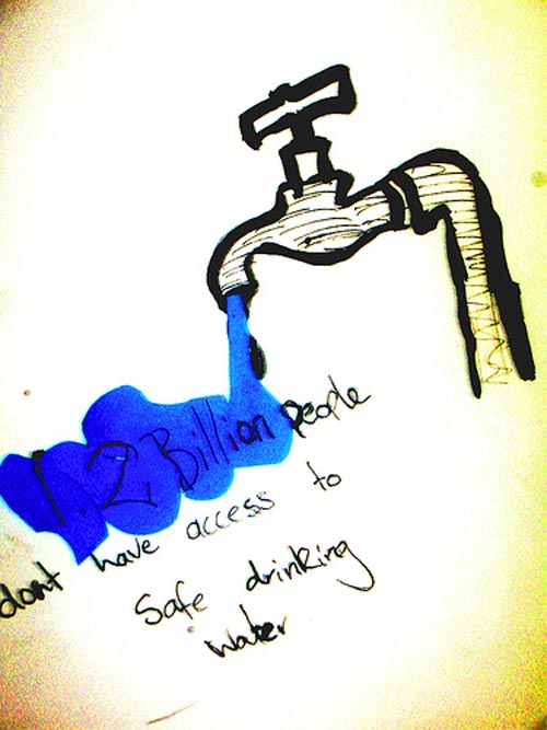 12 billion people does not have access to safe drinking water