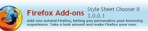 style sheet chooser for firefox