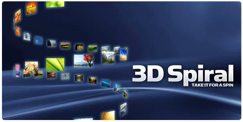 3D Spiral Flash gallery component