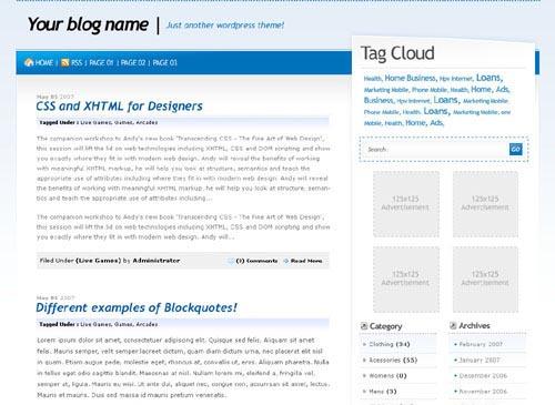 BluMin wordpress theme