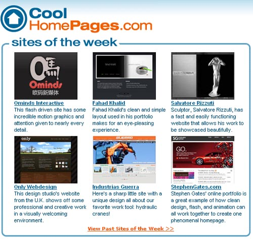 cool home pages