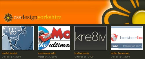 Gallery of over 2,500 bloomin' good web designs from Yorkshire, England and the rest of the world.
