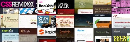 CSSRemix - A Fresh Blend of the Best-Designed web2.0 Sites