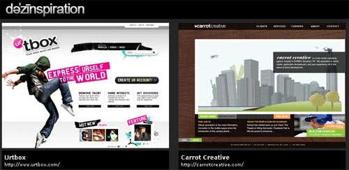 dezinspiration - web design gallery