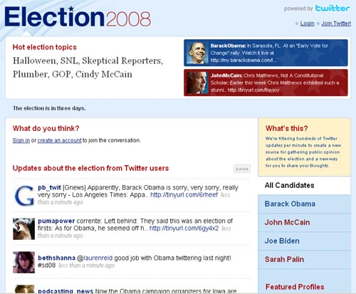 Election 2008 | powered by Twitter