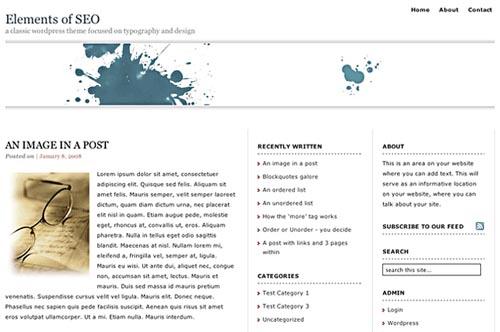 Elements of SEO – WordPress Theme