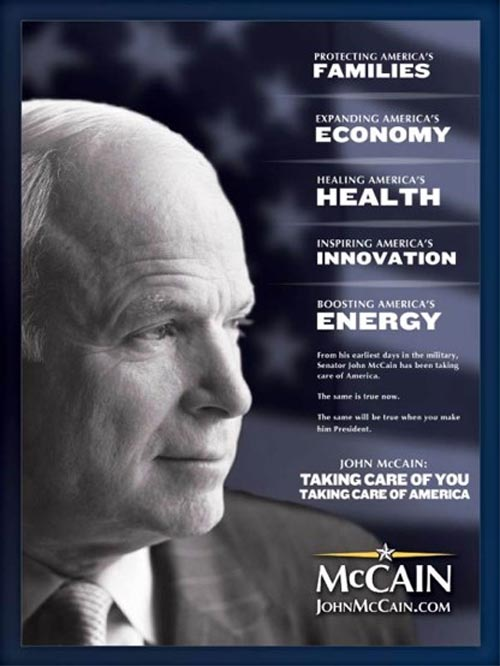 McCain taking care of you