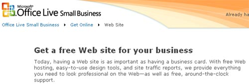 Web site Design and Hosting – Microsoft Office Live Small Business