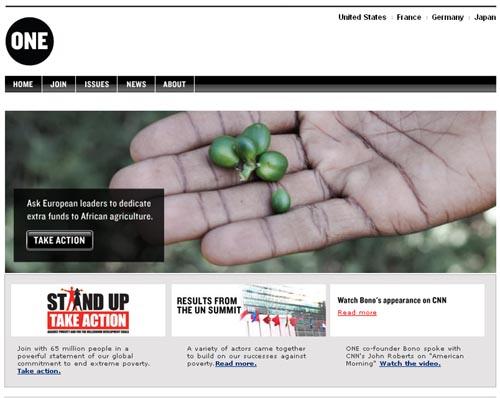 17 Beautiful Websites Creating Poverty Awareness - Blog Action Day 2008 1