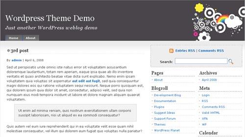 RainbowCircles WordPress Theme
