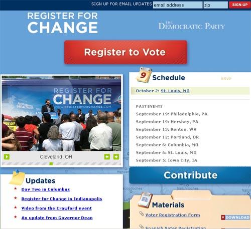 Register For Change