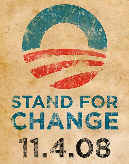 11 Powerful Poster Designs That Were Created For USA Presidential Election 2008 7