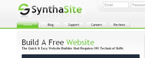 SynthaSite - Free Website & Hosting