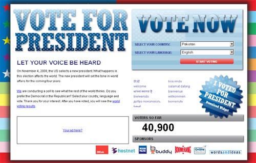 Vote For President - Let your voice be heard