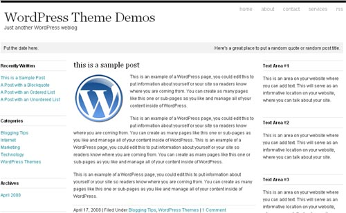 Whitespace WordPress Theme