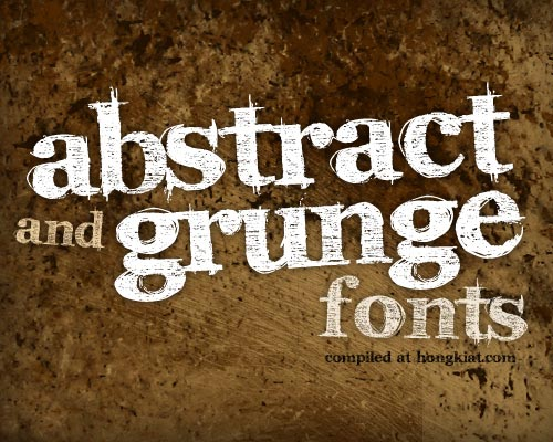 100 Greatest Abstract and Grunge Fonts (Free)