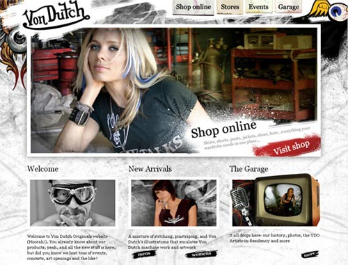 30 Beautiful Examples of Grunge in Web Design