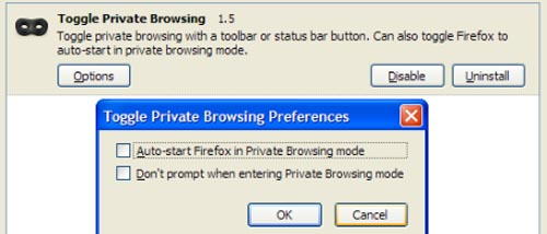 Toggle Private Browsing