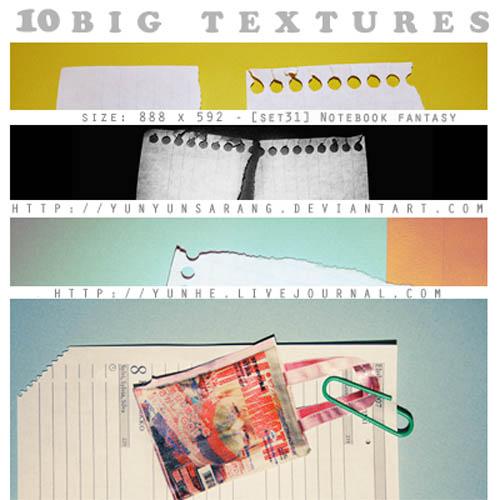 big textures - notebook