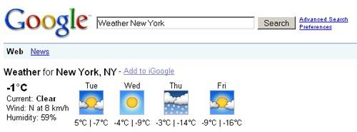 Google Weather