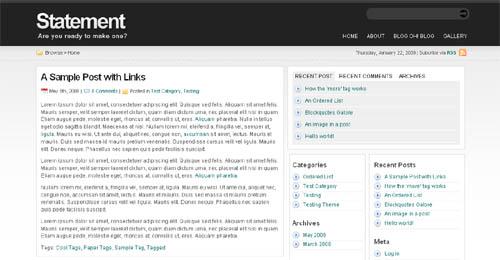 WordPress Theme - Statement